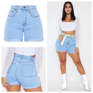 ♥️PLT High Waisted Light Wash Denim Shorts